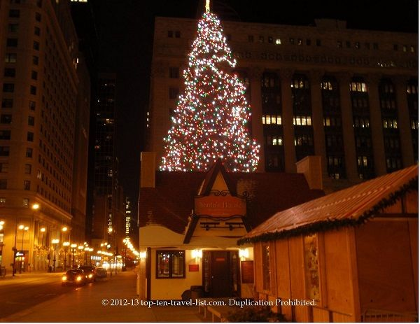 The downtown Chicago Christmas tree