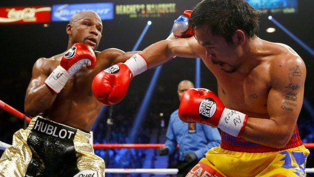 Mayweather beats Manny Pacquiao richest fight in boxing history - http://headlinesview.com/mayweather-beats-manny-pacquiao-richest-fight-in-boxing-history/