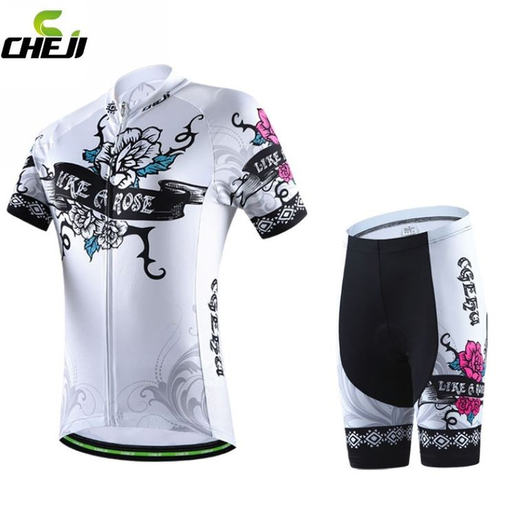 32.28$  Buy now - http://alivis.shopchina.info/go.php?t=32610100241 - 2016 Brand CHEJI Women Cycling Jerseys Breathable Bike Cycling Clothing Ropa Ciclismo/GEL Pad Quick-Dry Racing Bicycle Clothes  #shopstyle