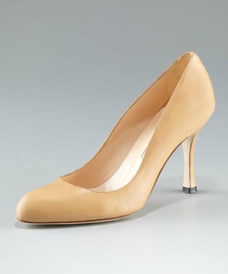 manolo blahnik slingback pumps, manolo blahnik white pumps outlet $219, manolo blanik shoes, Manolo Blahnik Round Toe Suede Pump