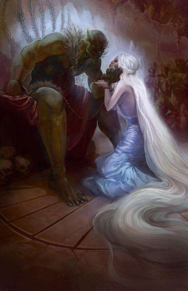 Fantasy Love Portrayal Art : fairy tale art