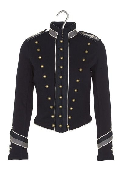 Veste officier cintrée en coton Bleu by DENIM AND SUPPLY BY RALPH LAUREN