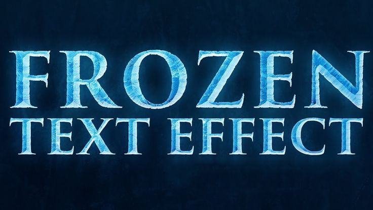 """Great Tutorial for creating the font for Frozen. Perfect for my #DisneySide @Home Celebration banner & invitations. Photoshop: """"Frozen"""" Text Effect (Disney's Frozen)"""
