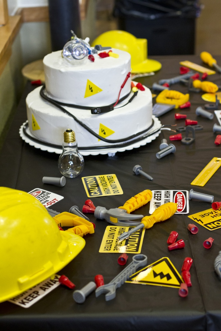 Engineering Party Ideas : Images about electrician birthday on pinterest