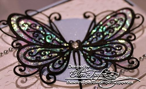 The Serendipitous Stamper: Impression Obsession DT Thursday~Butterfly Fantasy