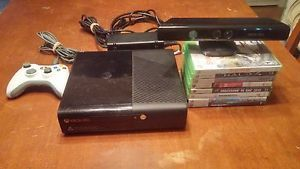 a xbox 360 e bundle 250 gb with kinect 9 games 1 controller avpower cables