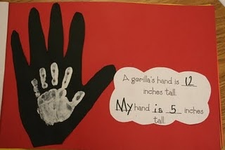 Actual Size....What a fun library activity and keep sake for parents!! Gotta try this...