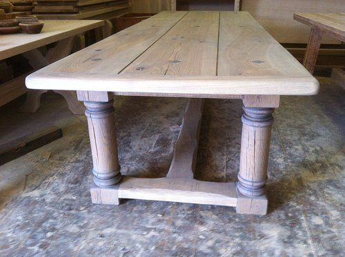 Solid Oak Refractory Style Table