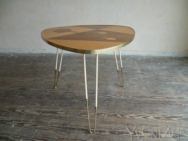 exklusiver schlaufentisch tisch coffee table nierentisch loung hairpin legs 50er for sale eur. Black Bedroom Furniture Sets. Home Design Ideas