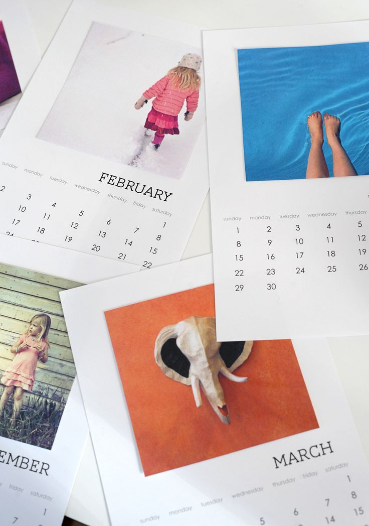 Make this DIY free printable calendar for 2016 with your favorite pics from Instagram.