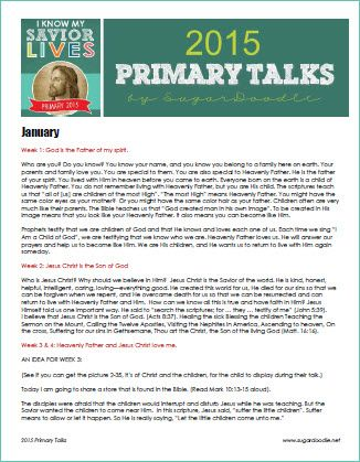2015 Primary Talks (in case the assigned person doesn't show up or come prepared)