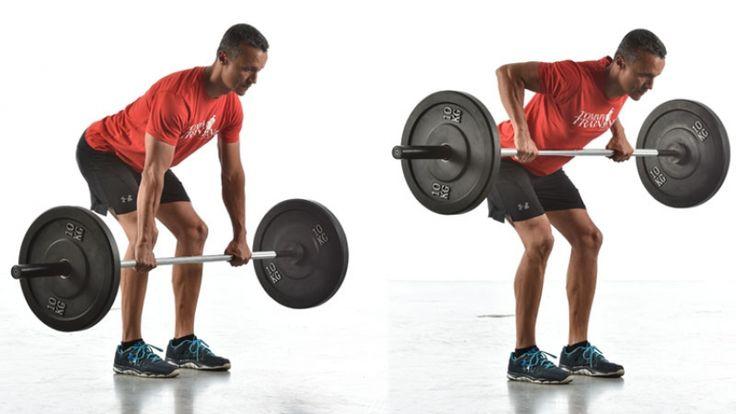 Pierde grasa a la fuerza: circuito con barra olímpica y discos