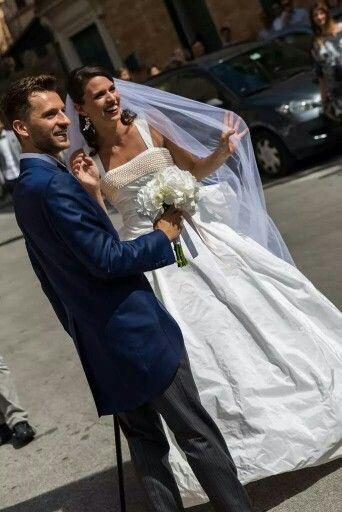 Wedding bride groom pic photo summer white pearl veil