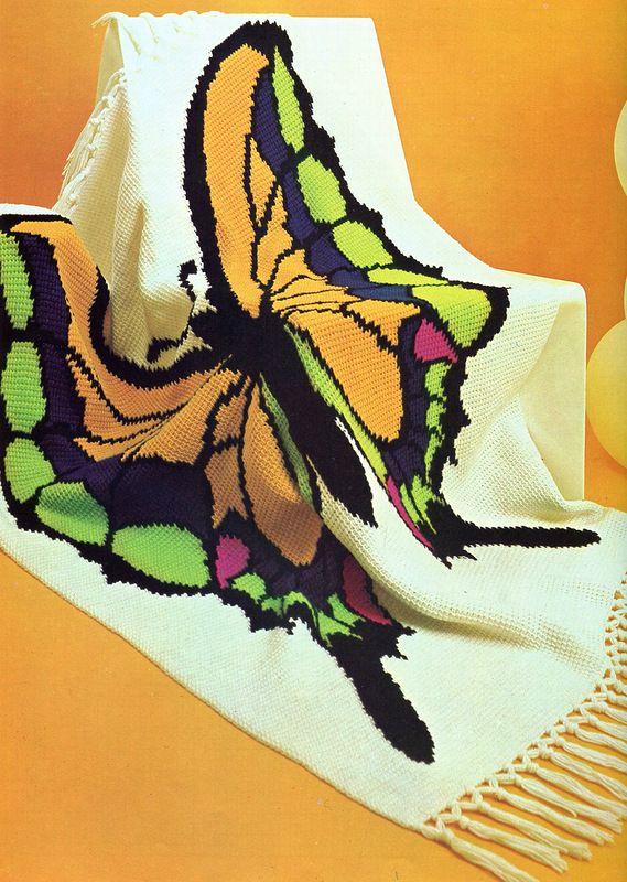 """Плед - """"Прекрас-с-с-ная бабочка""""!. Обсуждение на LiveInternet - Российский Сервис Онлайн-Дневников"""
