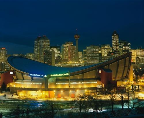 The Pengrowth Saddledome - Home of The Calgary Flames