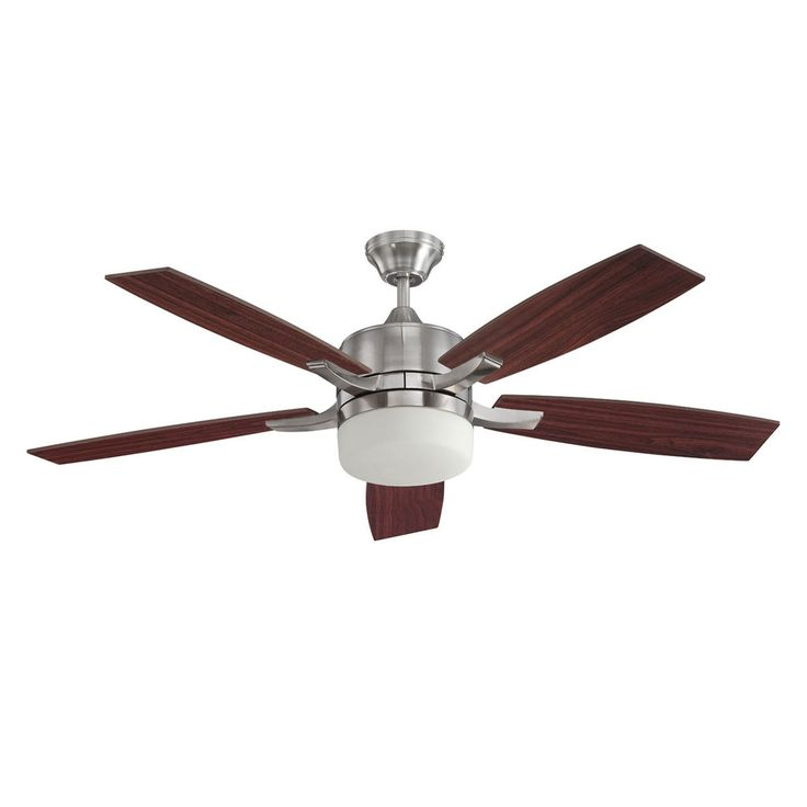 "Concord Fans 52"" Xia Stainless Steel Ceiling Fan With Light and Remote Control"