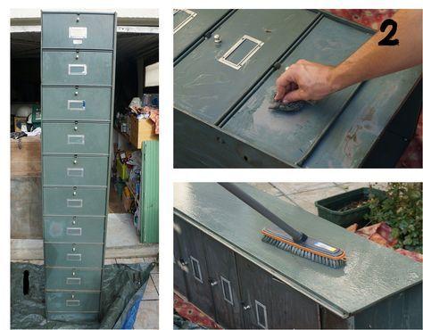 Les 25 meilleures id es de la cat gorie meuble casier ikea sur pinterest ca - Decaper un vestiaire metallique ...