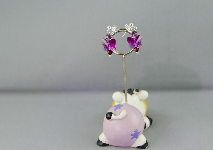 """Swarovski earrings """"Butterfly"""""""