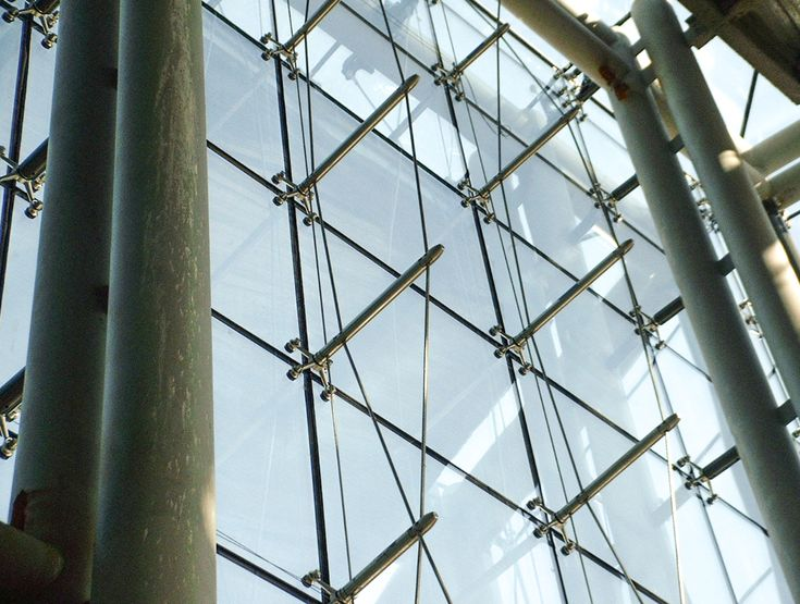 Spider Connection Glass : Best images about cable truss glass facade on pinterest