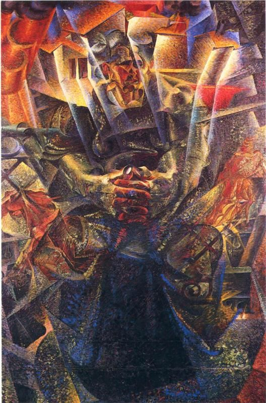 Umberto Boccioni, Materia, 1912. I like how the colours change from the top to the bottom getting lighter as it goes down.