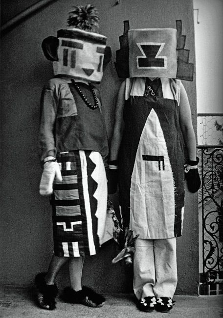 Sophie Taeuber & Erika Taeuber  in Kachina costumes made by Sophie, 1922
