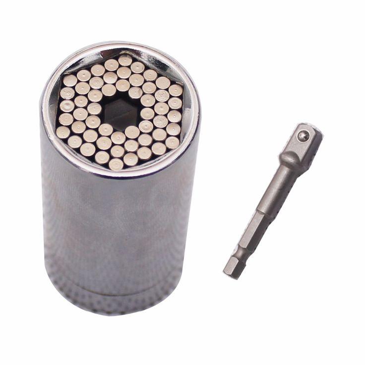 2 Piece/set Gator Grip Universal Socket Multi-fungsi Alat Tangan Set Perbaikan Kit Tukang Kunci Obeng Wrench Adapter Multitool