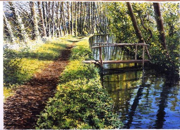 Landscape Watercolor Paintings by UK Artist Joe Francis Dowden.