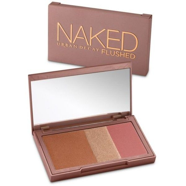 Urban Decay  Naked Flushed Bronzer/Highlighter/Blush ($34) ❤ liked on Polyvore featuring beauty products, makeup, cheek makeup, blush, urban decay and urban decay blush