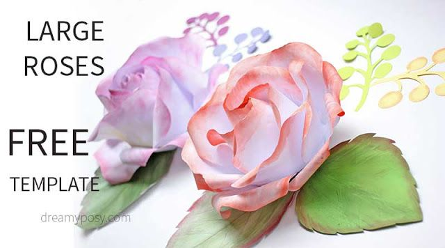 Free Templates Tutorials For Making Paper Flowers With Cricut Or