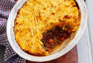 Slimming World's cottage pie - add parsnip and swede to the potato and carrot topping to make it lovely and sweet