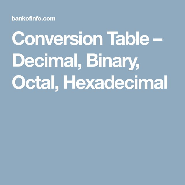 conversion of binary to decimal octal and hexadecimal pdf