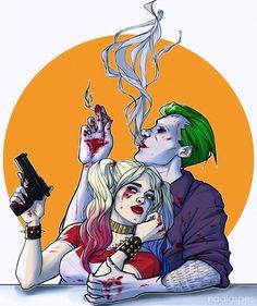 Harley Quinn and The Joker MAD LOVE SUICIDE SQUAD