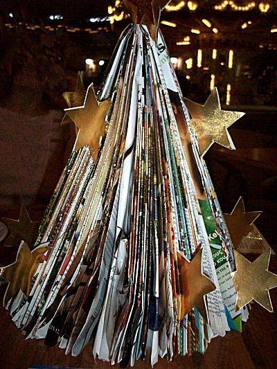 Kerstboom van tijdschrift