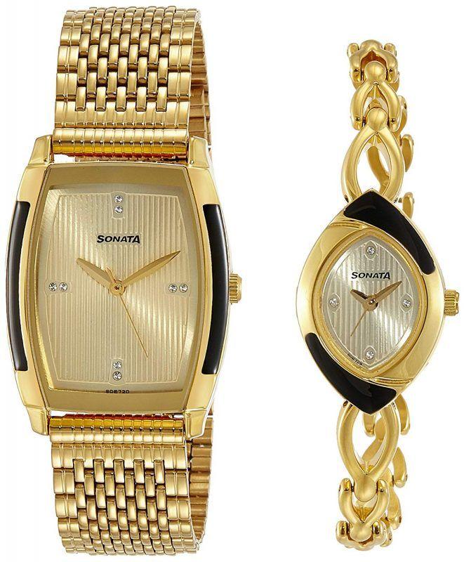 b320f9ac7 Sonata Analog Gold Dial Unisex Watch-NK70808069YM01