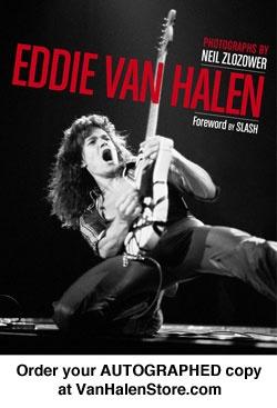 "Van Halen Store: ""Eddie Van Halen"" by Neil Zlozower (Hardcover)"