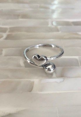 1b19b0f5226f Softball Baseball Ring Sterling silver ring features a softball or baseball  and heart- a perfect gift for your favorite softball player or baseball fan  to ...