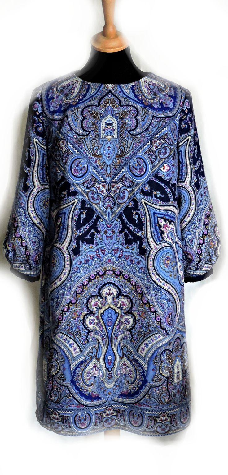 Платье Синяя птица / Фотофорум / Burdastyle Кокетка по косой