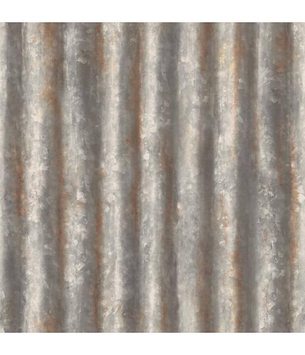 Dutch Wallcoverings Reclaimed golfplaten behang bruin grijs, Behangwinkelier