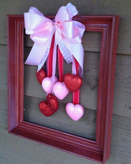 white frame to reuse for spring_change out hearts for chicks