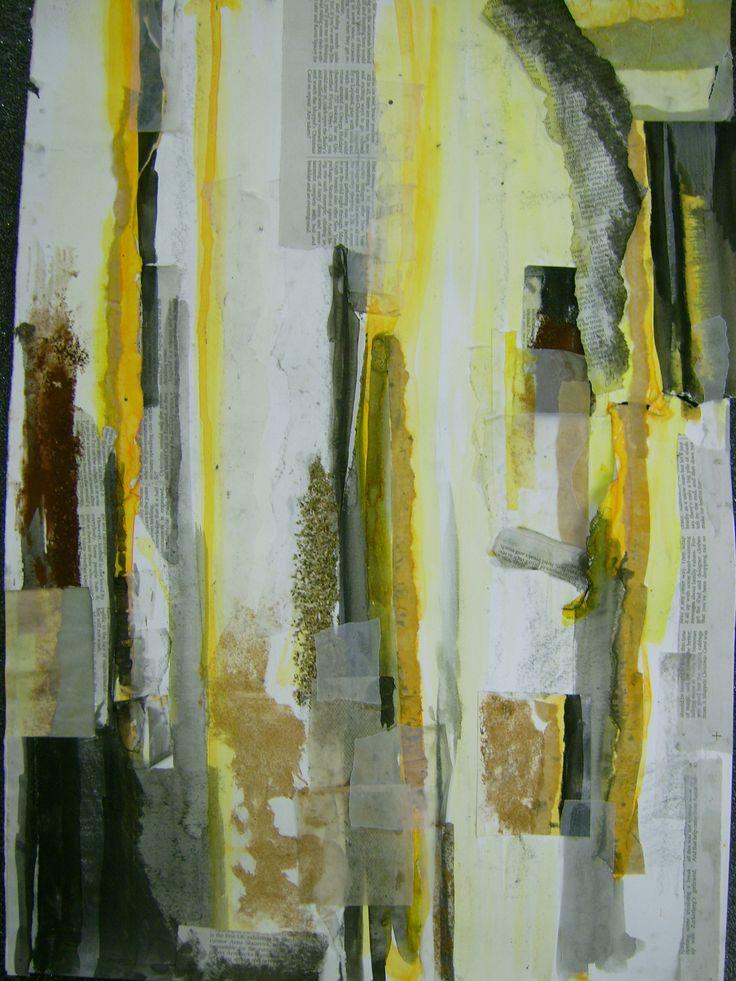 mixed media collage by Agata Murasko