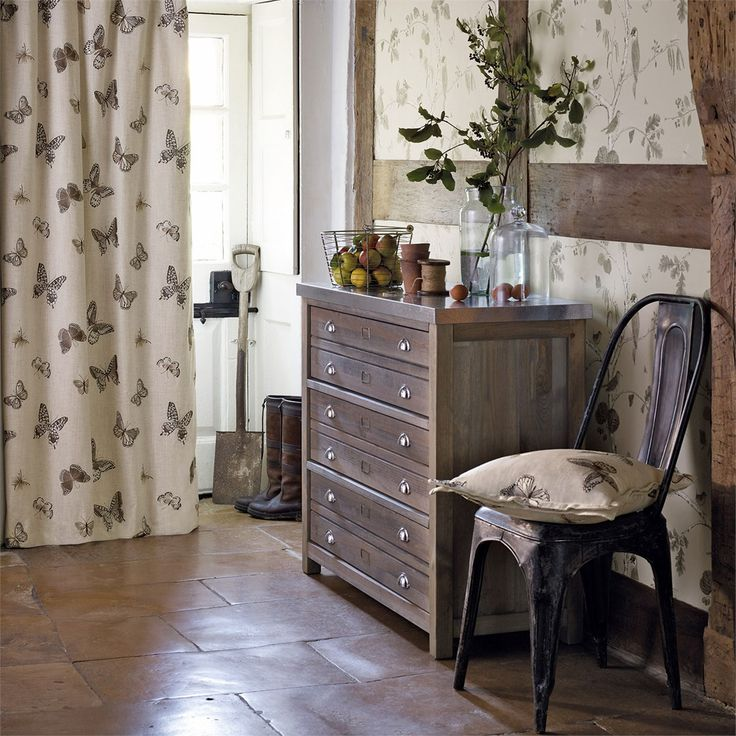 Sanderson - Traditional to contemporary, high quality designer fabrics and wallpapers | Products | British/UK Fabric and Wallpapers | Butterfly Embroidery (DWOW235600) | Woodland Walk