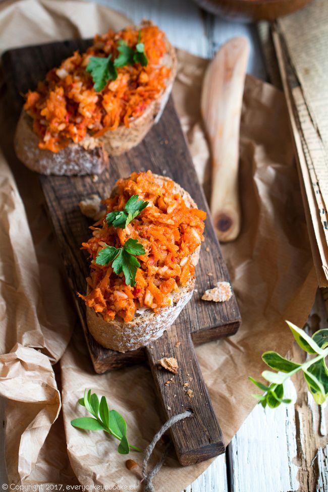 Paprykarz szczeciński z wędzoną makrelą, smoked fish, red pepper and rise spread #paprykarz #ryba #fish #spread