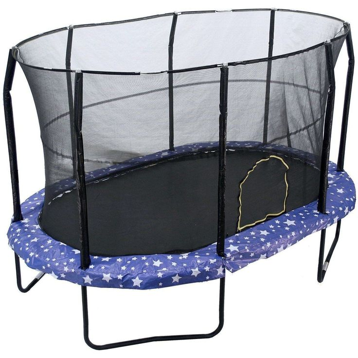 9x14 Oval Trampoline with Enclosure - American Stars