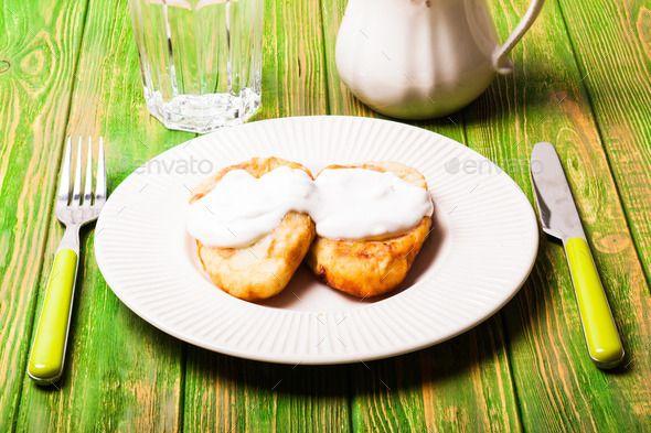 stuffed potato pancakes  – russian traditional dish – potato zrazy