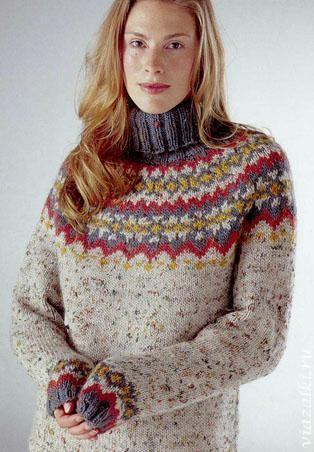 свитер спицами для женщин бежевый - Поиск в Google