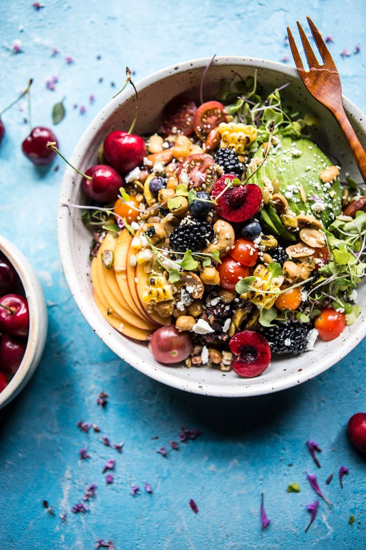 Fruity Rainbow Nut Veggie Salad