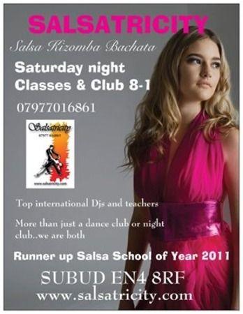 Salsa Kizomba Bachata Azonto Christmas Party on Dec 07 at 20:00-1:00. -- Every Saturday Salsa Bachata and Kizomba Class and Club. -- Facebook: http://atnd.it/4936-2, Twitter: http://atnd.it/4936-0. -- Category: Classes / Courses. -- Price: after midnight: £5, students: £5, classes&club: £8. -- Artists: To Costa, Salsatricity, Dorian, Julian the Duke, Gilbert, Garcia, Mauricio reyes, Yannick, Sandrino, Vasco, Cristian Ozy. --- Venue: Subud, 97 East Barnet Road, Barnet London, En4 8rf, UK