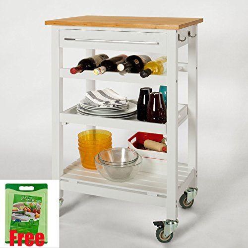 101 best Bambus Küchenwagen images on Pinterest Bamboo - küchenwagen mit mülleimer