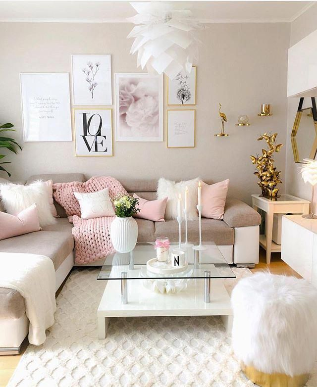 Home Decor Ideas For Living Room With Black Sofa Homedecorapartment Girly Living Room Living Room Decor Apartment Pink Living Room