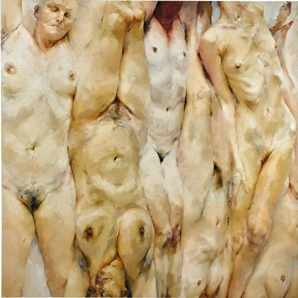 Jenny Saville, Shift (1996-97) was just sold at Sotheby's for a record £6.8 million. This was most famously shown in Saatchi's landmark exhibition Sensation in 1997.